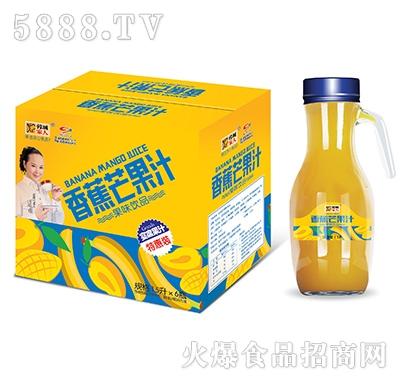 蓉城家人香蕉芒果汁1.5Lx6瓶特惠装