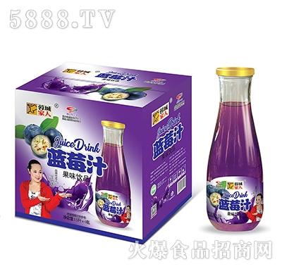 蓉城家人蓝莓汁1.5Lx6瓶