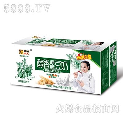 蓉城家人醇香原味豆奶250mlx24盒