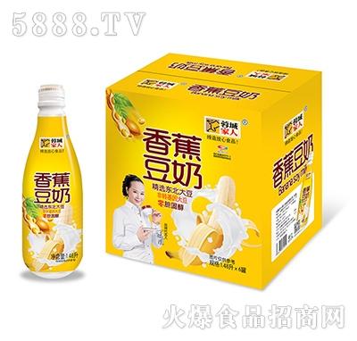 蓉城家人香蕉豆奶1.48Lx6瓶