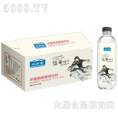 水珍泉水蜜桃味果汁饮料500mlx24瓶