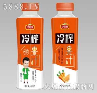 伊思源冷榨甜橙胡萝卜果汁500毫升