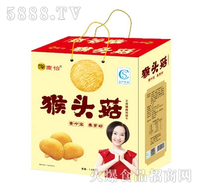 麦恰猴头菇无蔗糖酥性饼干(礼盒装)