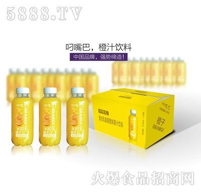 叼嘴巴复合乳酸菌甜橙味果汁饮料410mlx15瓶