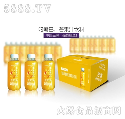 叼嘴巴复合乳酸菌芒果味果汁饮料410mlx15瓶