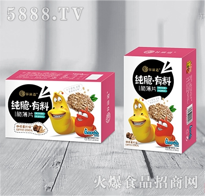 谷滋道纯脆有料脆薄片咖啡麦片味84克x2件