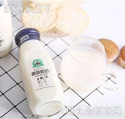 蓝约卡奇原味酸奶330ml产品图
