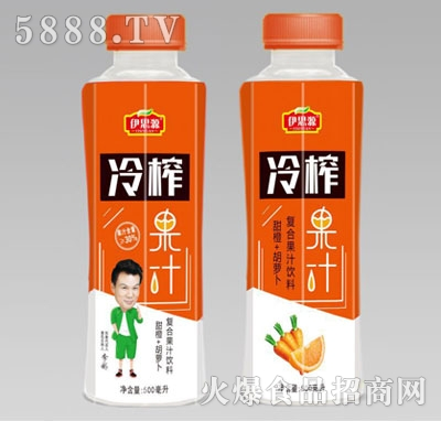 伊思源冷榨果汁复合果汁饮料瓶500ml产品图