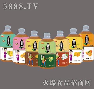 伊思源果味茶饮料系列1L