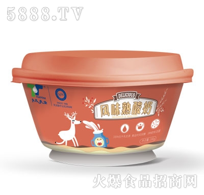 天太乳业风味熟酸奶产品图