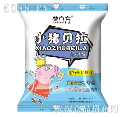 梦立方小猪贝拉点心面蜜汁牛排味55g产品图