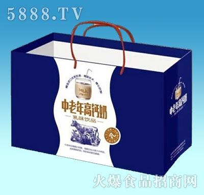 中老年高钙奶乳味饮品手提袋