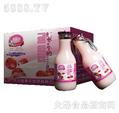 苗翠花红枣牛奶乳味饮料1.5Lx6瓶