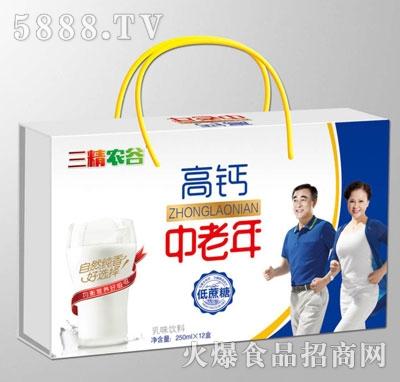 三精农谷中老年高钙乳味饮料250mlX12