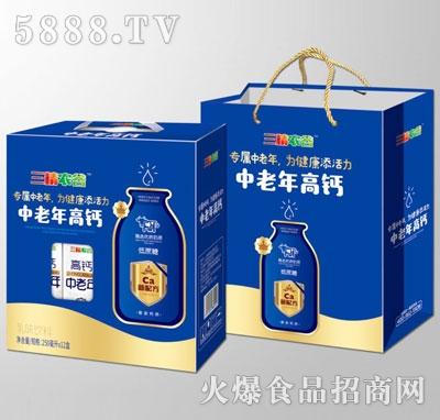 三精农谷中老年高钙乳味饮料250mlX12盒
