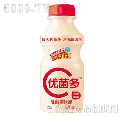 优菌多乳酸菌饮品经典浪漫草莓味340ml