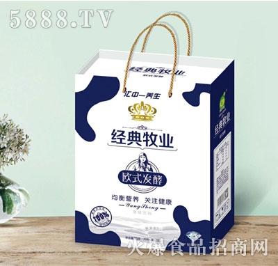 经典牧场欧式发酵果味饮料208mlx12盒