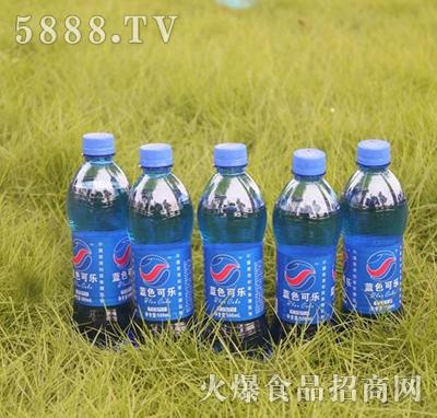 蓝色可乐碳酸饮料