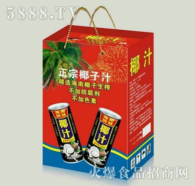 240ml罐装椰汁箱