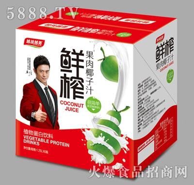 越战越勇鲜榨果肉椰子汁1.25Lx6瓶
