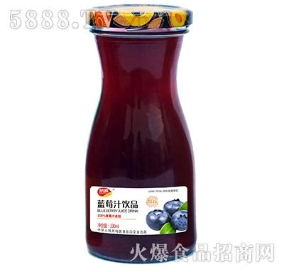 顶真蓝莓汁果汁饮料330ml