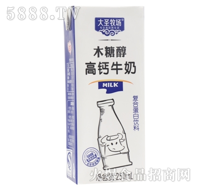 大圣牧场木糖醇高钙牛奶250ml