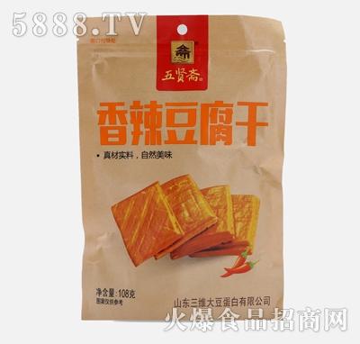 五贤斋豆干108g香辣味产品图