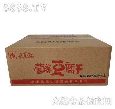 五贤斋豆腐干25gx20袋x10盒产品图