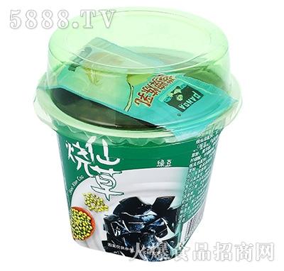 烧仙草绿豆饮料产品图
