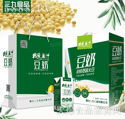 我爱豆汁豆奶饮品250mlx12盒