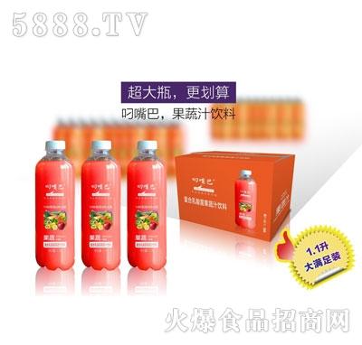 叼嘴巴复合乳酸菌果蔬味果汁饮料1.1Lx8瓶