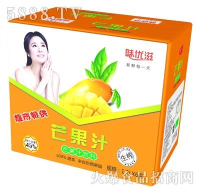 味优滋生榨芒果汁1.5Lx6瓶