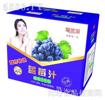 味优滋生榨蓝莓汁1.5Lx6瓶