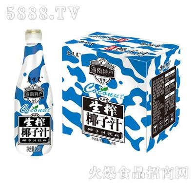 康悦晨生榨椰子汁1.25Lx6瓶箱装