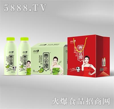 优洋泰会撩乳味哈密瓜牛奶350mlx12瓶产品图