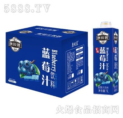 康悦晨蓝莓汁饮料1Lx8瓶装