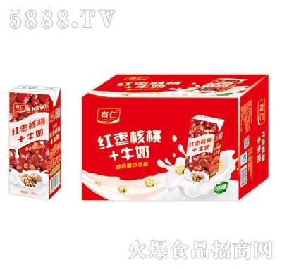 有仁红枣核桃牛奶复合蛋白饮料