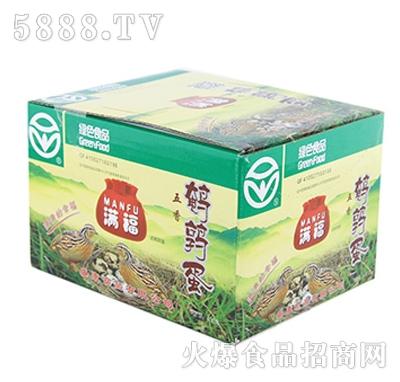 满福鹌鹑蛋五香盒装产品图