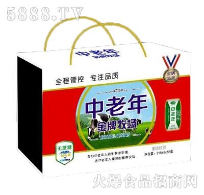 中老年金牌牧场复合蛋白饮品250mlx12盒