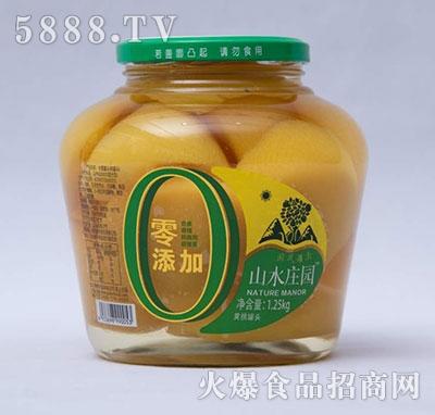 山水庄园黄桃罐头1.25KG
