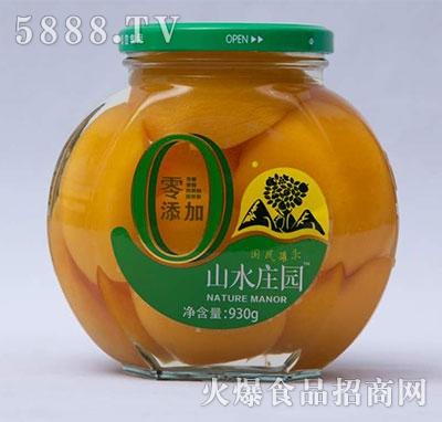 山水庄园黄桃罐头930g