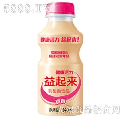 益起来草莓味乳酸菌饮品340ml