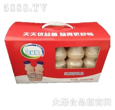 益园优益菌乳酸菌礼盒装340mlx10瓶