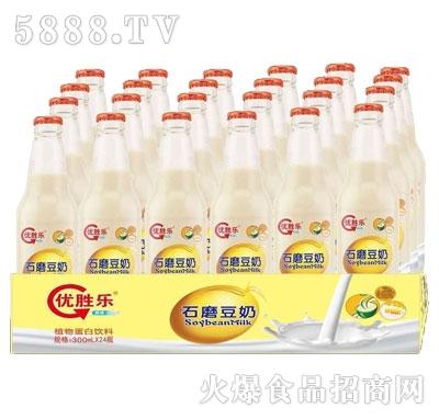 优胜乐石磨豆奶330mlX24产品图