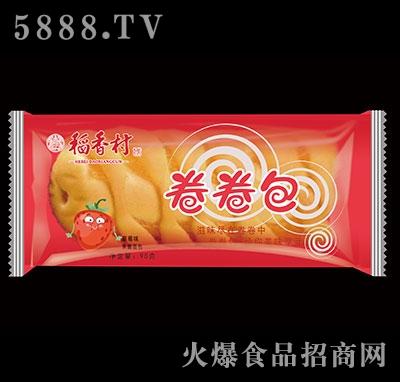 稻香村卷卷包果酱面包草莓味90g