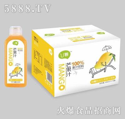 u幕芒果果汁饮料450mlx15瓶