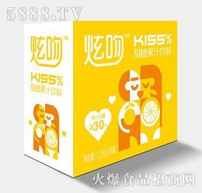 炫吻kiss%甜橙果汁饮料1.18Lx8瓶
