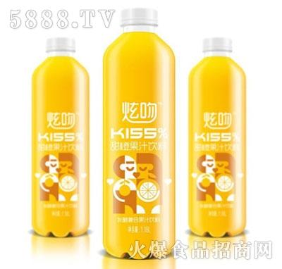 炫吻kiss%甜橙果汁饮料1.18L
