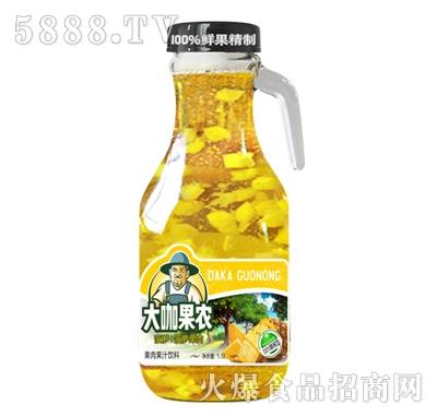 大咖果农菠萝果肉果汁饮料1.5L