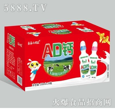 亲亲小奶瓶AD钙200mlx24